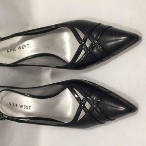 Black Nine West Leather Shoes